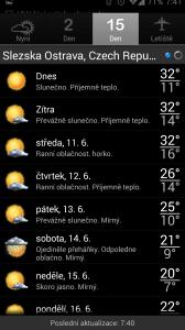 Palmary Weather Premium: 15denní předpověď