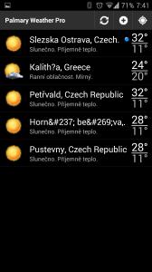 Palmary Weather Premium: výběr lokality