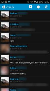 Seznam konverzací