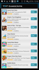 Sekce More Apps