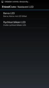 Nastavení LED
