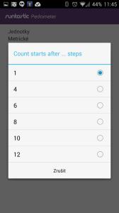 Po kolika krocích měřit?