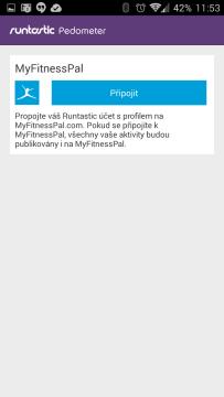 Připojit k MyFitnessPal účtu