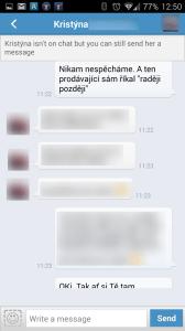 Chat - konverzace s kontaktem