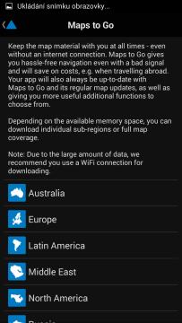 Nákup offline mapových podkladů