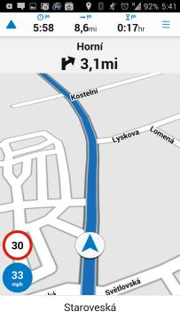 Garmin Viago: navigace
