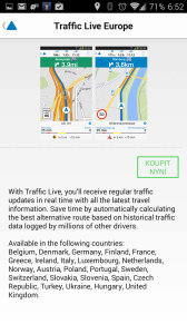 Příplatková funkce Traffic Live