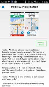 Příplatková funkce Alert Live