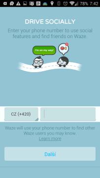 Navigace Waze ve verzi 3.8