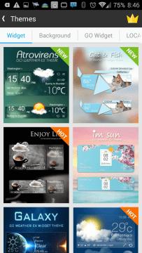 GO Weather Forecast: témata