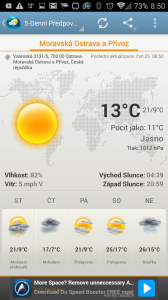 Weather & Clock Widget Android: aktuální situace