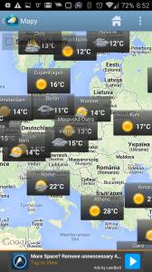 Weather & Clock Widget Android: počasí v mapě