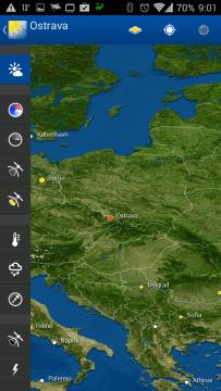 WeatherPro: mapy
