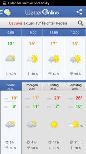 Wetter App: aktuální situace