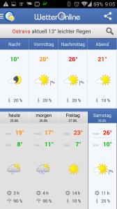 Wetter App: předpověď počasí