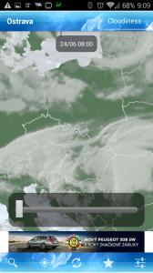 ForecaWeather: snímky oblačnosti