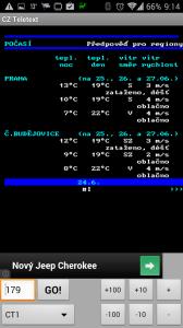 CZ Teletext: předpověď počasí