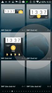 Beautiful Widgets: výběr widgetů