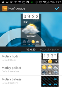 Beautiful Widgets: nastavení motivů