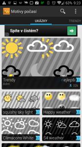 Beautiful Widgets: motivy počasí