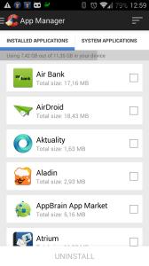 Nainstalované aplikace podle názvu