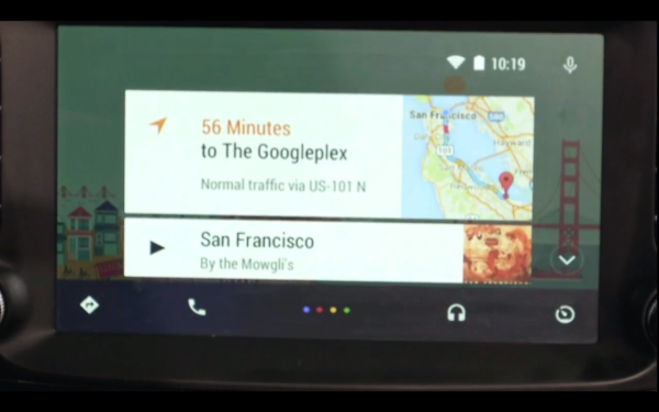 Android Auto homescreen