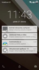 Android L zamykací obrazovka