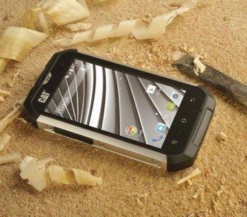 Telefon je odolný vůči prachu