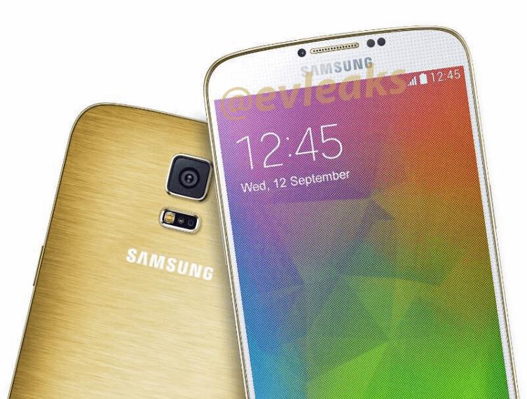 Samsung Galaxy F (S5 Prime) na tiskovém renderu ve zlaté barvě