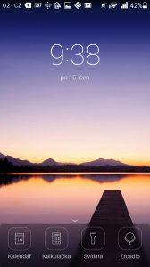 Huawei Ascend P7 recenze -lišta lockscreen