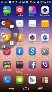 Huawei Ascend P7 recenze - plovoucí tlačítko 1