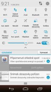 Huawei Ascend P7 recenze - rozšířená lišta