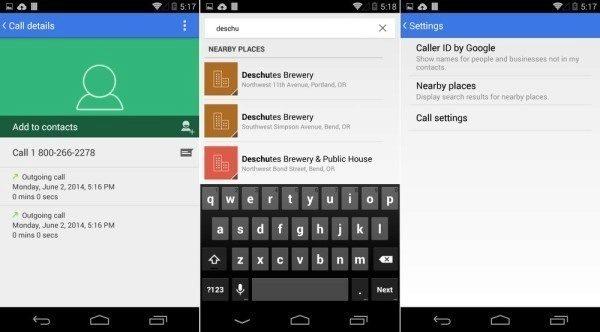 Android 4.4.3 přináší nový vzhled aplikace Číselník