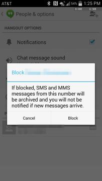 Sjednocený seznam blokovaných odesílatelů SMS.