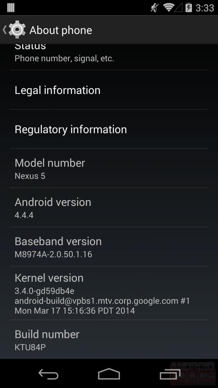 Někteří majitelé Nexusů 5 se již updatu na Android 4.4.4 dočkali