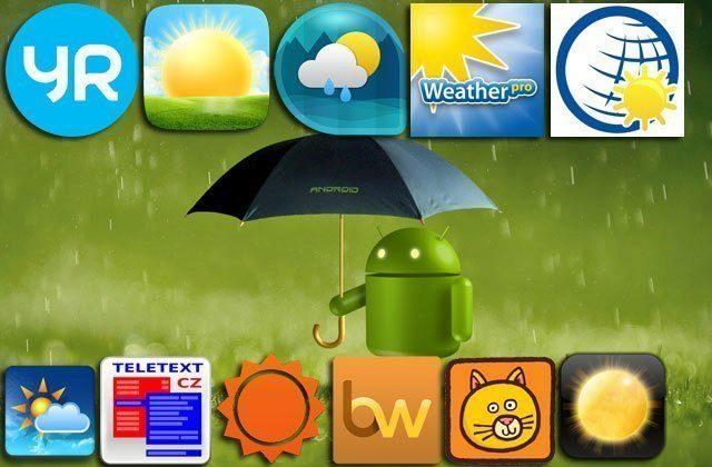 Čtenáři doporučují: 11x předpověď počasí pro Android