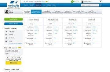 Webové rozhraní Runtastic.com