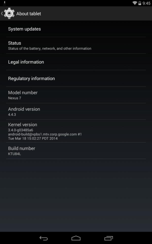 Nejnovější Android na Nexusu 7