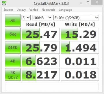 Silicon Power mobile x10-CrystalDiskMark