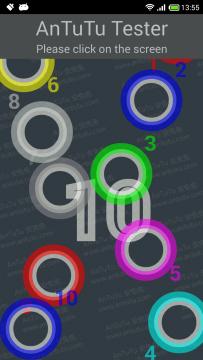 AnTuTu Tester - Počet dotyků