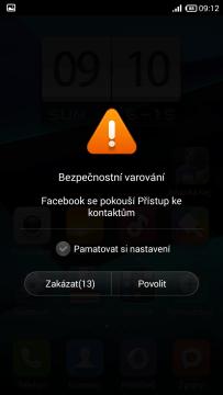 Facebook - Bezpečnostní varování