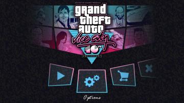 GTA Vice City - krásná podívaná na menu hry