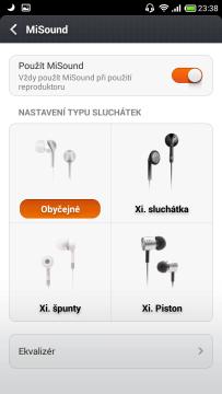 MiSound - Výběr typu sluchátek