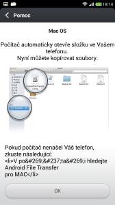 Připojení k počítači - Mac OS