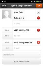 Tvorba kontaktu