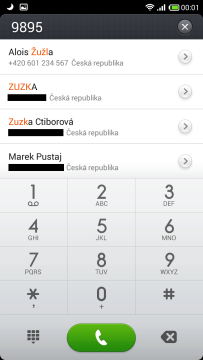 Vyhledávání kontaktu
