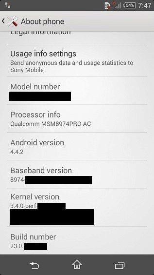Údajný snímek ze Sony Xperia Z3 Compact