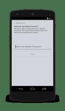 Jako nový uživatel si nastavíte hlavní heslo