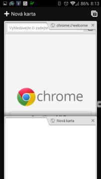Prohlížeč Chrome – Google: práce s více kartami