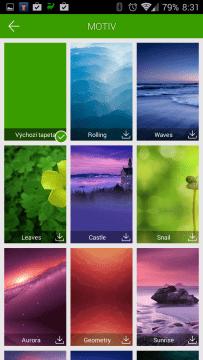 Dolphin Browser: výběr motivů